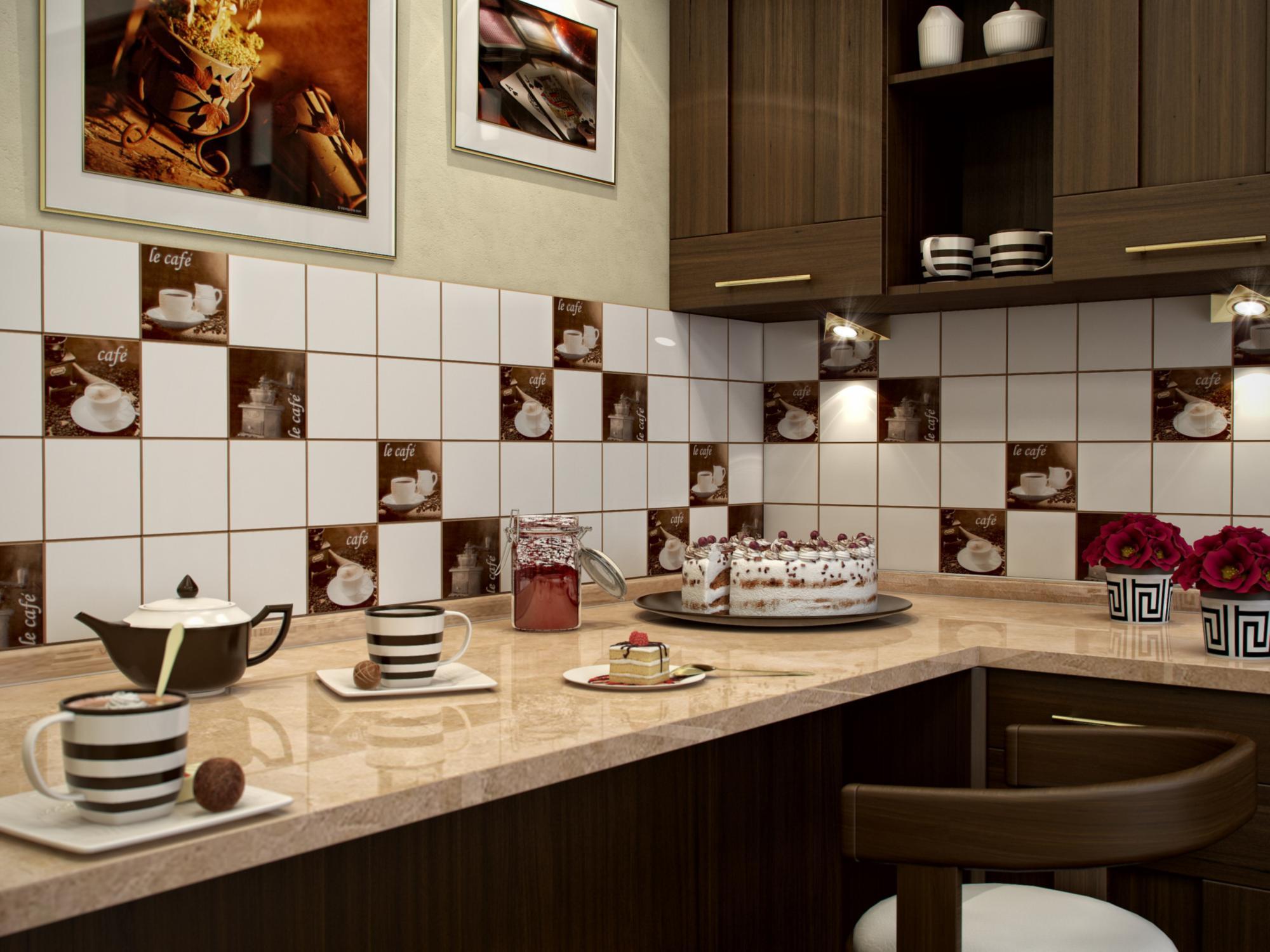 Дизайн кухонной плитки фото