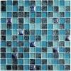 Мозаика Satin Blue глянц. чип 23мм на сетке ПВХ