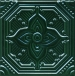 Декор Салинас зеленый SSA003