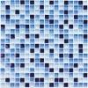 Мозаика Blue Drops глянц. чип 15мм на сетке ПВХ