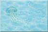 Декор Лазурь медуза бирюзовый