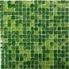 Мозаика Strike Green глянц. чип 15мм на сетке ПВХ