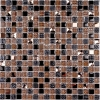 Мозаика Crystal brown рельеф. чип 15мм на сетке ПВХ