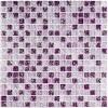 Мозаика Strike Lila глянц. чип 15мм на сетке ПВХ