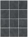 Плитка Дегре чёрный 1301 полотно из 12 частей 9,9х9,9
