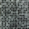Мозаика Strike Black глянц. чип 15мм на сетке ПВХ