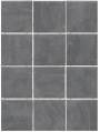 Плитка Дегре серый темный 1300 полотно из 12 частей 9,9х9,9