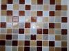 Мозаика Happy серо-коричн. микс с блес. размер чипа 25*25*3,5 мм